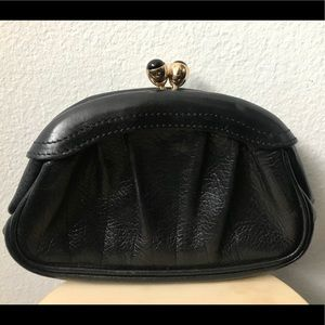 Marc Jacobs Couture Leather Mini Kiss Lock Clutch
